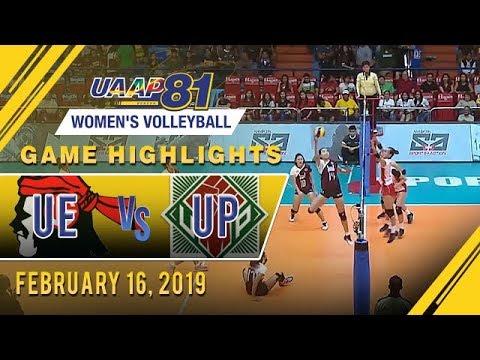 UAAP 81 WV: UE vs UP  Game Highlights  February 19 2019