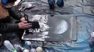 Скоростное рисование аэрозольными красками на улице \ Speed drawing aerosol paints on the street