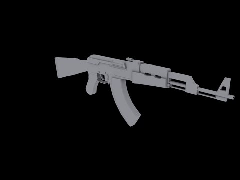 modeling an AK47 gun in 3Ds max - part 1