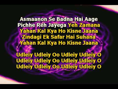 Zindagi Ek Safar Hai Suhana Karaoke - Andaaz