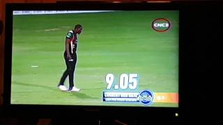 Kieron Pollard wicket cpl 2016 match 14