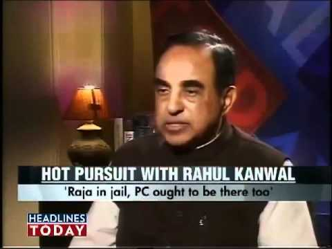 Subramanian Swamy interview on Headline Today - Chidambaram should be in jail