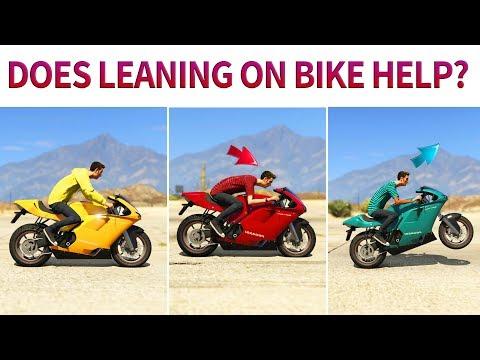 GTA V - Does leaning on Motorbike Help?