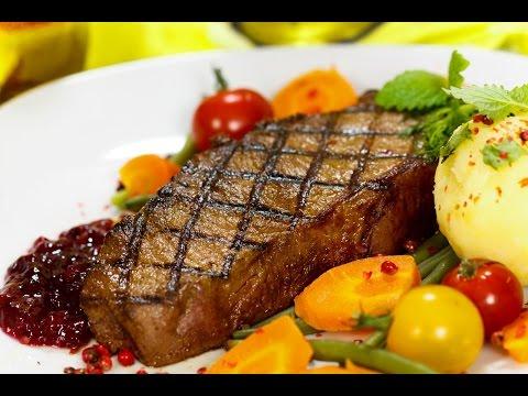 Как приготовить антрекот из говядины - видео