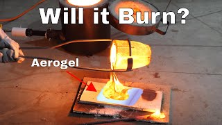 Pouring Lava on Aerogel—Will it Burn?