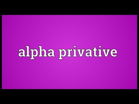 Header of Alpha Privative
