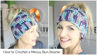 Download How to Crochet a Messy Bun Beanie 3Gp Mp4