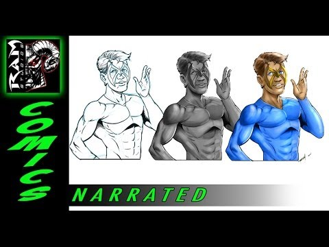 Digital Painting Tutorial - Photoshop - Convert Comic Book Art to Painting - Narrated