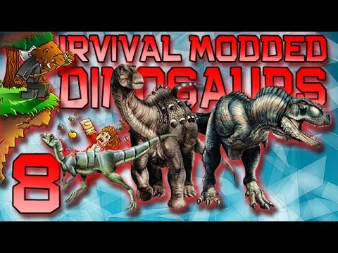 Minecraft: Modded Dinosaur Survival Let's Play w/Mitch! Ep. 8 - MAKING BIG CAGES!