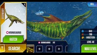 Kronosaurus - Maxed Aquatic Creature - Jurassic World The Game - UPDATE