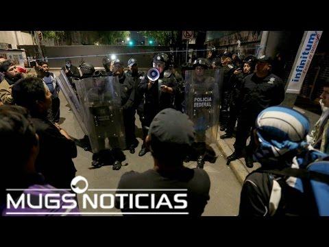 Desalojo de maestros de la CNTE de la Plaza de Santo Domingo