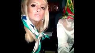 تصادف 2 دخترaccident of two sexy girl in the car when they singing and dancing during driving car