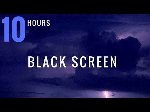 10 HOURS ROLLING THUNDER and RAIN - BLACK SCREEN - Rain and Thunder Sounds | Thunderstorm Sounds