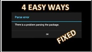 Parse error There is a problem parsing the package 4 Easy ways to fix