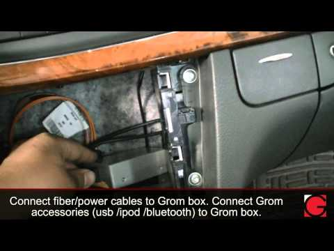 HOW TO remove car stereo from 2005 Mercedes E320 and install Bluetooth Android Car Kit by GROM