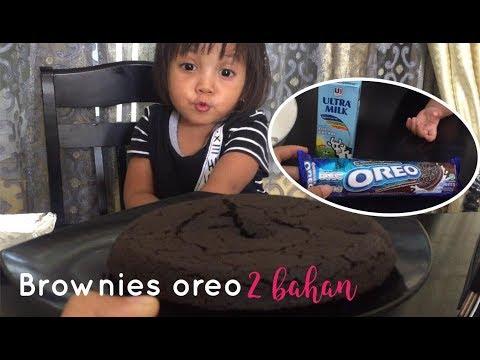 Resep Cara Membuat Oreo Brownies Viral paling mudah Hanya 2 Bahan