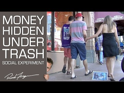 Money Hidden Under Trash - Social Experiment FAIL