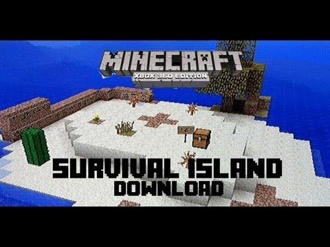Minecraft Xbox 360 Survival Island   DOWNLOAD