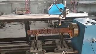 Cnc pipe cutting machine for 45 degree true mitres joints, saddle notch joints and holes
