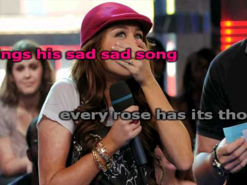 Miley Cyrus Every Rose Has It's Torn Karaoke (HD)