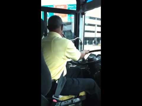 Hertz shuttle bus driver gets swanky on the mic!