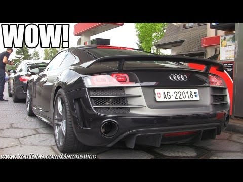 INSANE Gas Station Supercar Traffic!