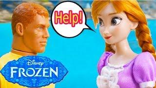 Disney Frozen Princess Anna Kristoff Jack Frost Help Part 37 Dolls Playing Series Video Cookieswirlc