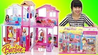 Đồ chơi ngôi nhà 3 tầng của BARBIE (chị Chim Xinh) ngôi nhà búp bê trong mơ, Barbie Town House Doll