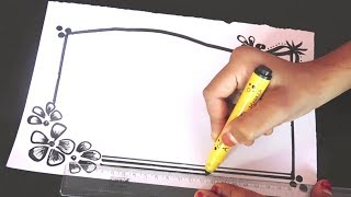 Art | Border designs on paper | border designs | project work designs | borders for projects