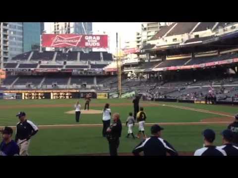 Trey's Ceremonial First Pitch. Petco Park, San Diego, CA. 5/7/12