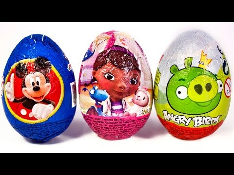 Surprise Eggs Mickey Mouse Angry birds Huevo Kinder Sorpresa easter egg by Unboxingsurpriseegg