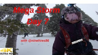 Mega Storm Day 7   with the Carpenter at WhistlerBlackcomb in 4K