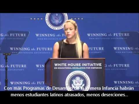 Discurso Shakira en la casa blanca (Subtitulado en Español)