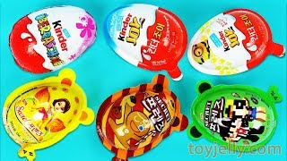 Super Surprise Eggs Kinder Joy Toys Minions Paw Patrol Disney Cars Pocoyo Learn Colors Play Doh Baby