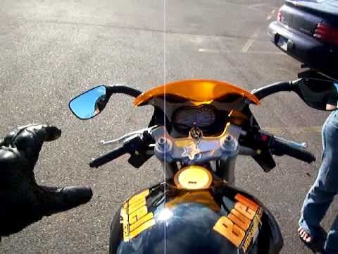 Newbie on a Crotch Rocket for the first time Buell XB12R '05 Video