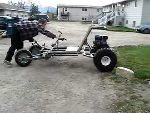 Tumbler go kart #2 1-2 (test drive)