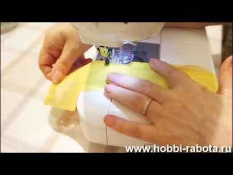 Обработка шифона московским швом и швом зиг заг