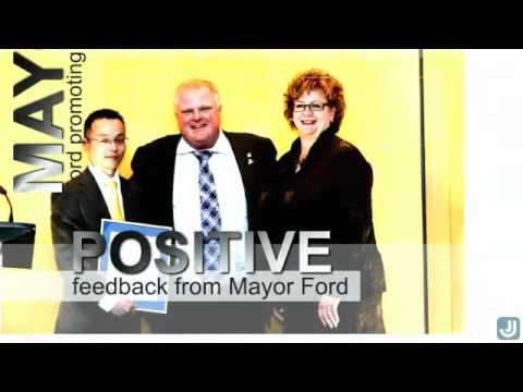 Toronto Mayor Ford attended the George Brown College Athletic Night recently ...
