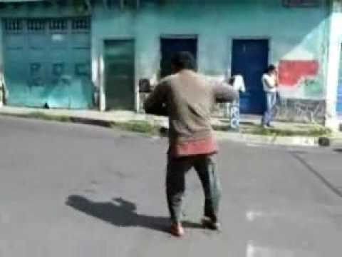 homeless man dancing to Billy Jean by Michael Jackson.