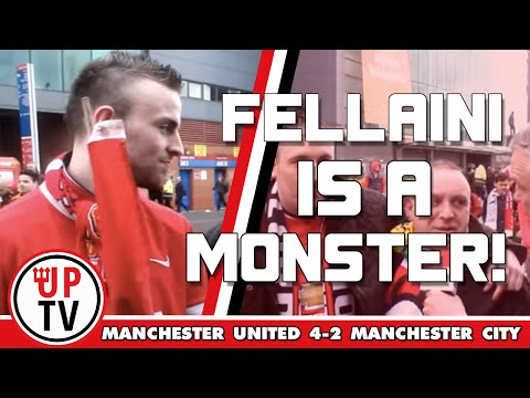 Marouane Fellaini is a monster! | Man United 4 Man City 2