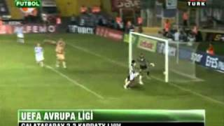 Galatasaray 2 - 2 Karpaty Lviv (UEFA Europa League Play Off 19.08.2010)