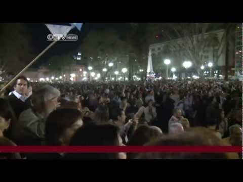 Thousands across Argentina protest against the President Cristina Fernandez's re-election