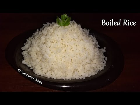 How to cook Boiled Rice Perfectly | How to cook Kerala Matta Rice - Sumana's Kitchen