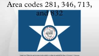 Area codes 281, 346, 713, and 832