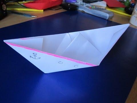 Бумажная лодка сделать своими