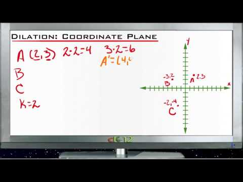 Dilation in the Coordinate Plane Principles - Basic