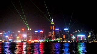 Лазерное шоу в Гонконге - Laser show in Hong Kong