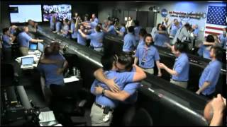 NASA control room during touchdown of Curiosity