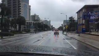 Take a drive down Ocean Blvd. in Myrtle Beach as Hurricane Florence nears