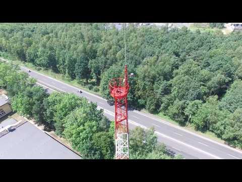 Malowanie Przeszkodowe Wieży GSM H50 Na Ternie Szkoły Policji W Katowicach